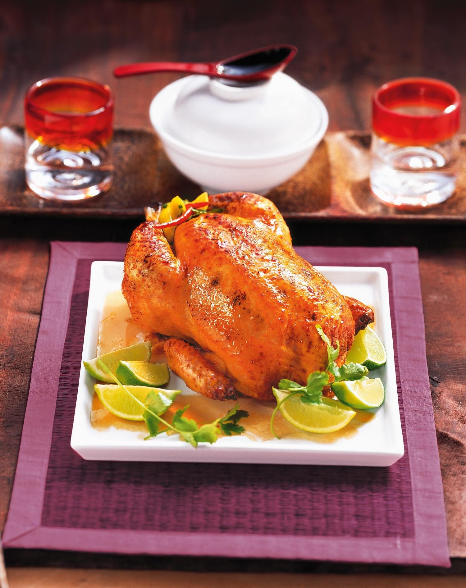 Жареная курица с лаймом и перцем чили