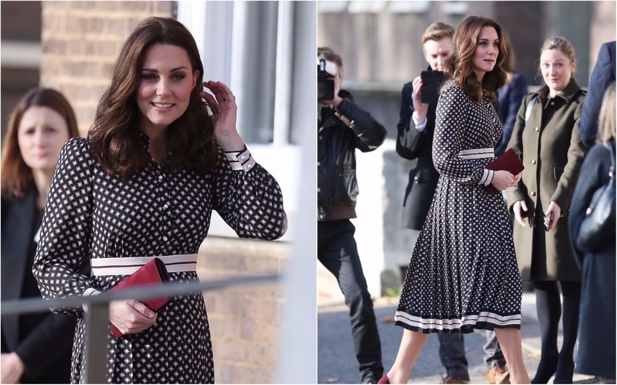 Стешу Маликову сравнили с Кейт Миддлтон из-за платья в стиле 50-х годов