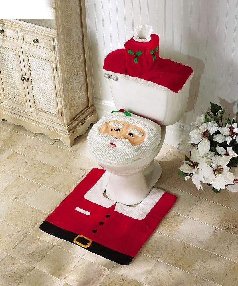 Кто-то считает, что украшать дом к Новому году нужно полностью, не пропуская ни одну комнату. Такие необычные чехлы для туалета, которые можно сделать самостоятельно, поднимут настроение...