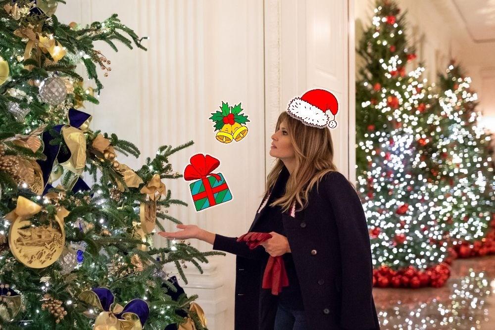 150 метров бархата и клюквенные деревья: Меланья Трамп подготовила Белый дом к Рождеству