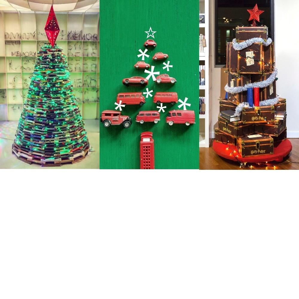 7 идей креативной новогодней елки: от настенной конструкции до елки из одежды
