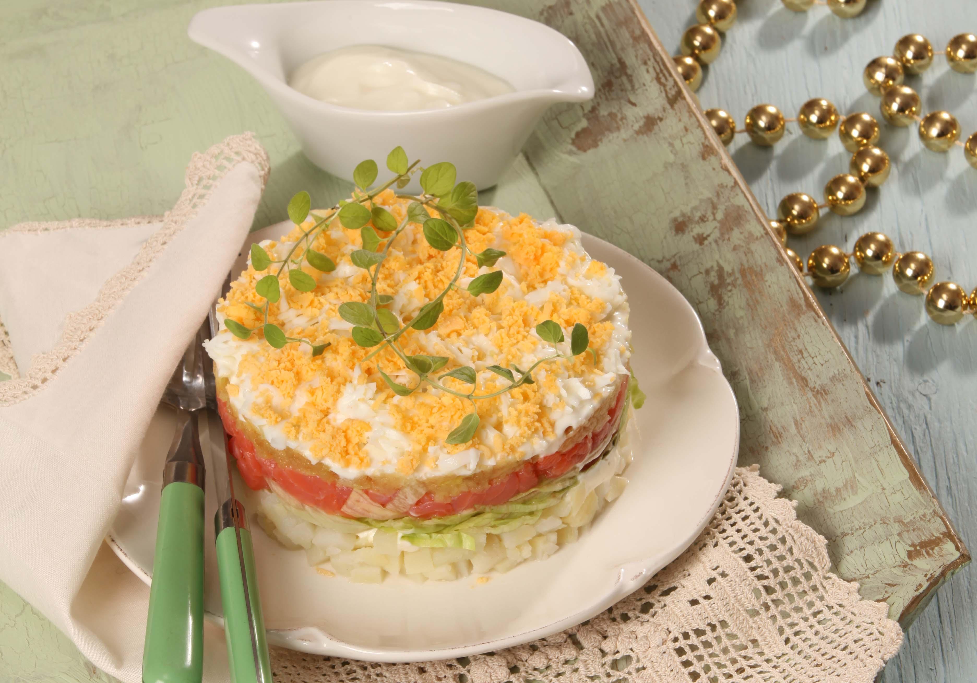Рецепт салат мимоза слои