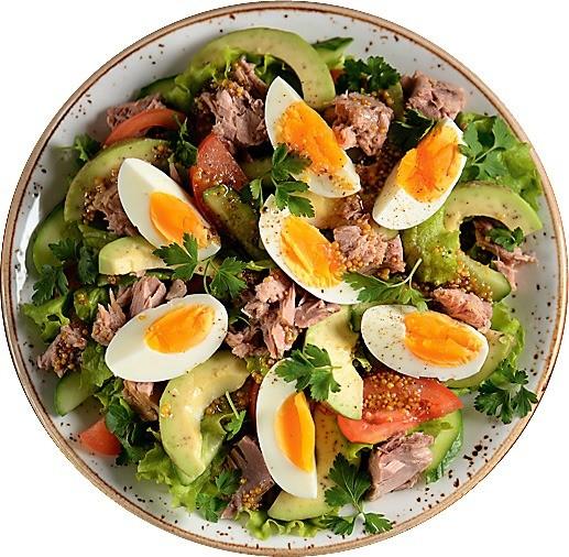 Салаты с крахмалистыми овощами и жирными заправками очень калорийны! Если ты худеешь, то можешь съесть не больше 3 ст. л. такой еды. Выбирай салаты из овощей и зелени с рыбой или мясом. Х...