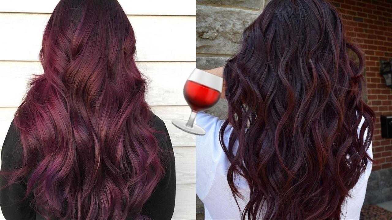 Вино в волосах: самое модное окрашивание осени стало трендом в Instagram