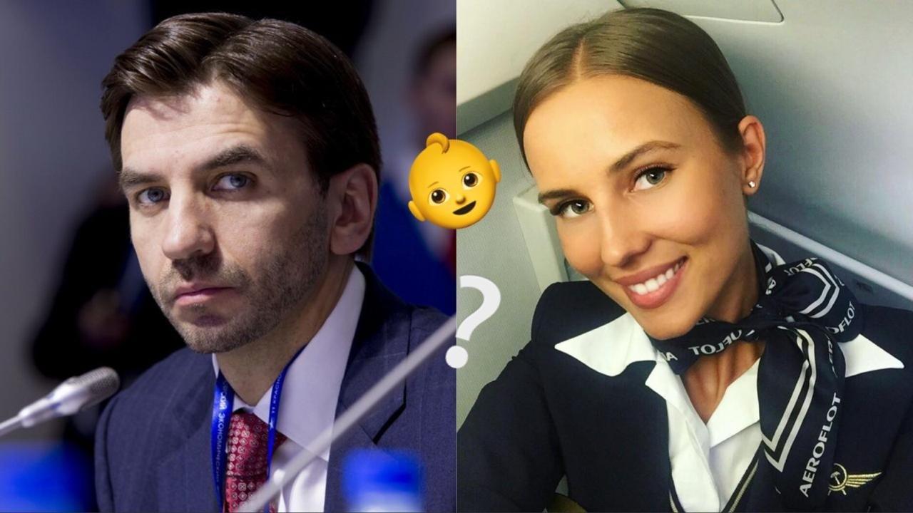 Пользователи Сети гадают, какая будет внешность у ребенка самой красивой стюардессы России и самого сексуального политика