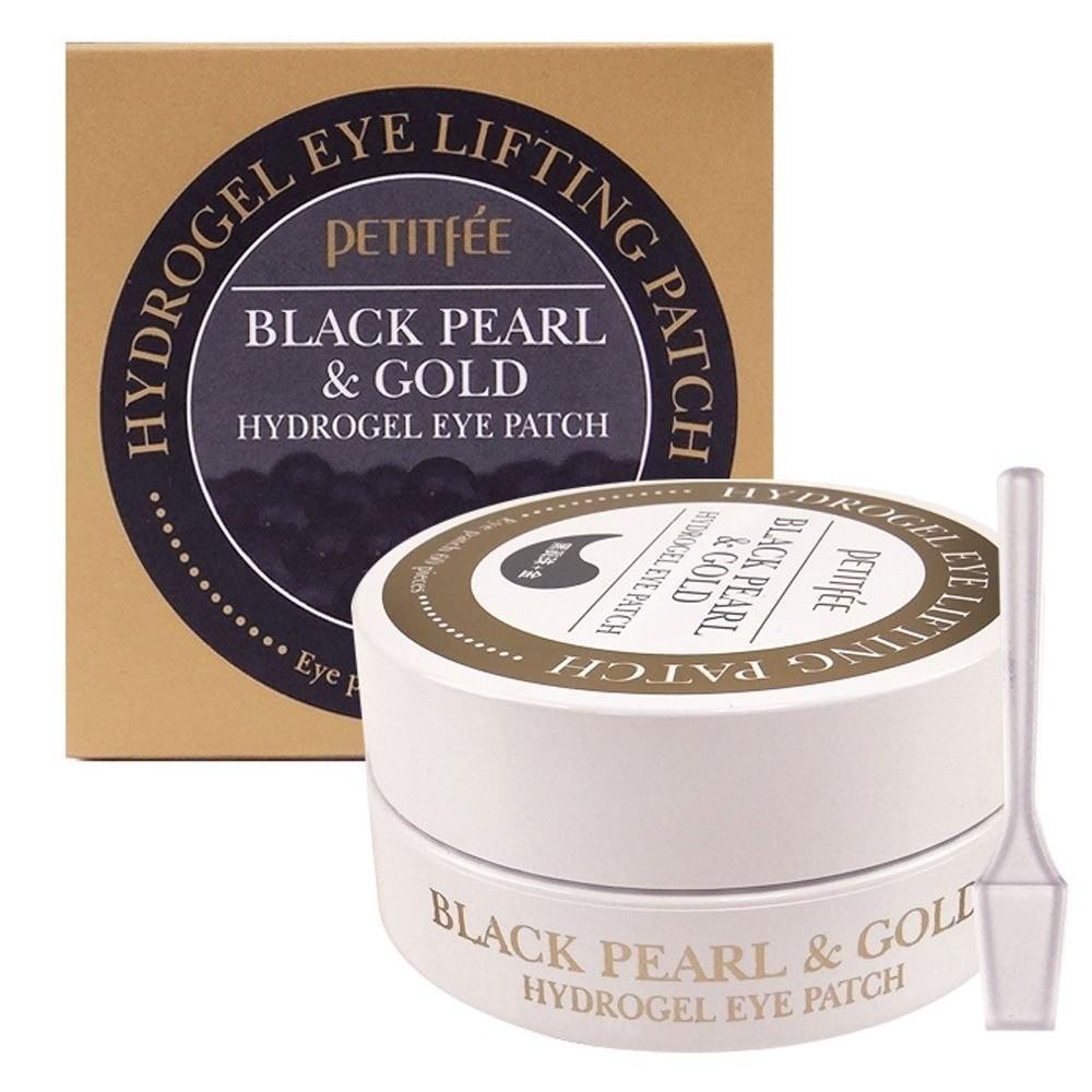 Petitfee Гидрогелевые патчи Black Pearl & Gold Hydrogel Eye Patch с золотом и черным жемчугом