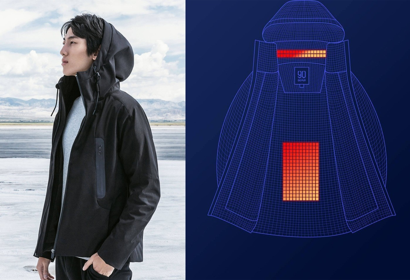 Для особо замерзших: в Китае выпустили куртку с подогревом