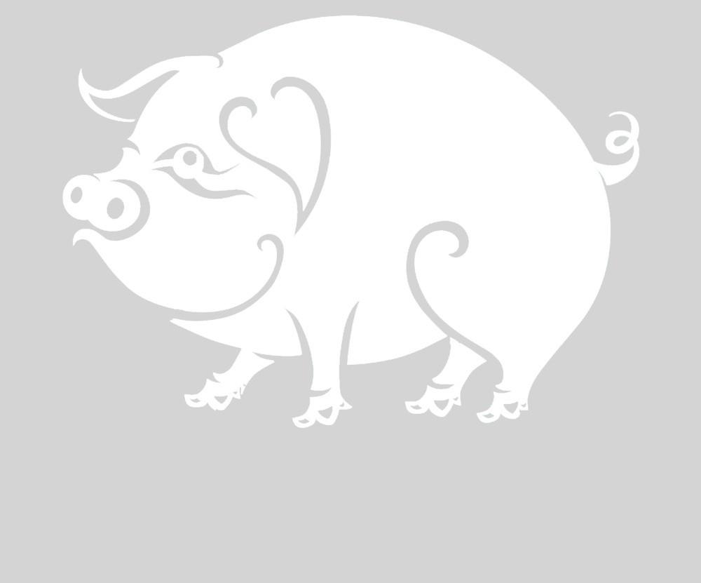Вытынанки на 2019 год свиньи: шаблоны и идеи