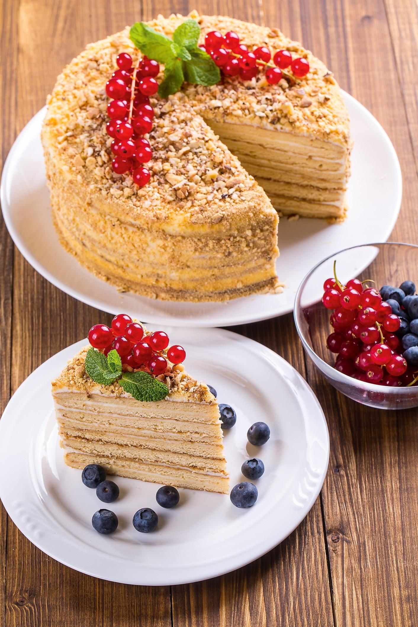 Торт с медом и сметаной