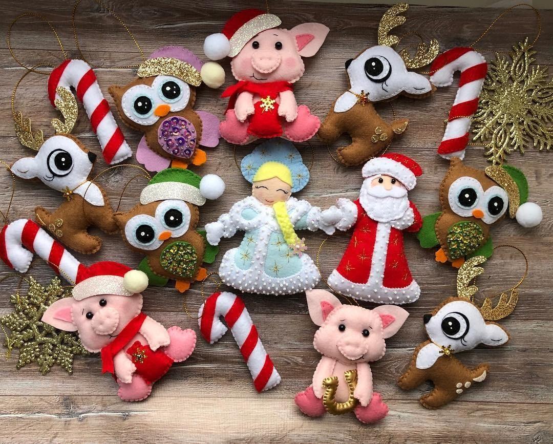 Новогодние игрушки из фетра своими руками: подборка идей
