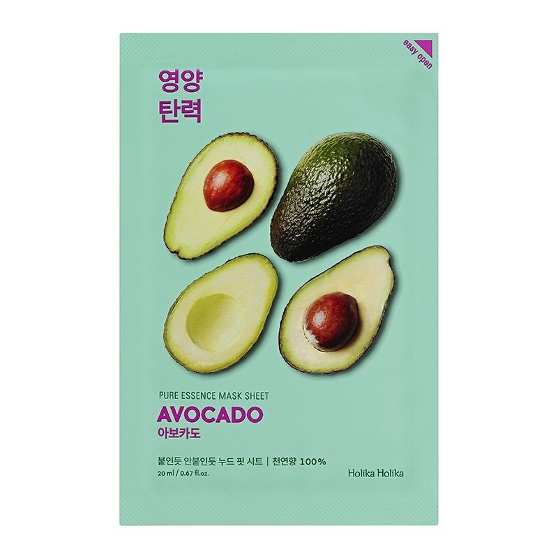 Holika Holika смягчающая тканевая маска Pure Essence Авокадо