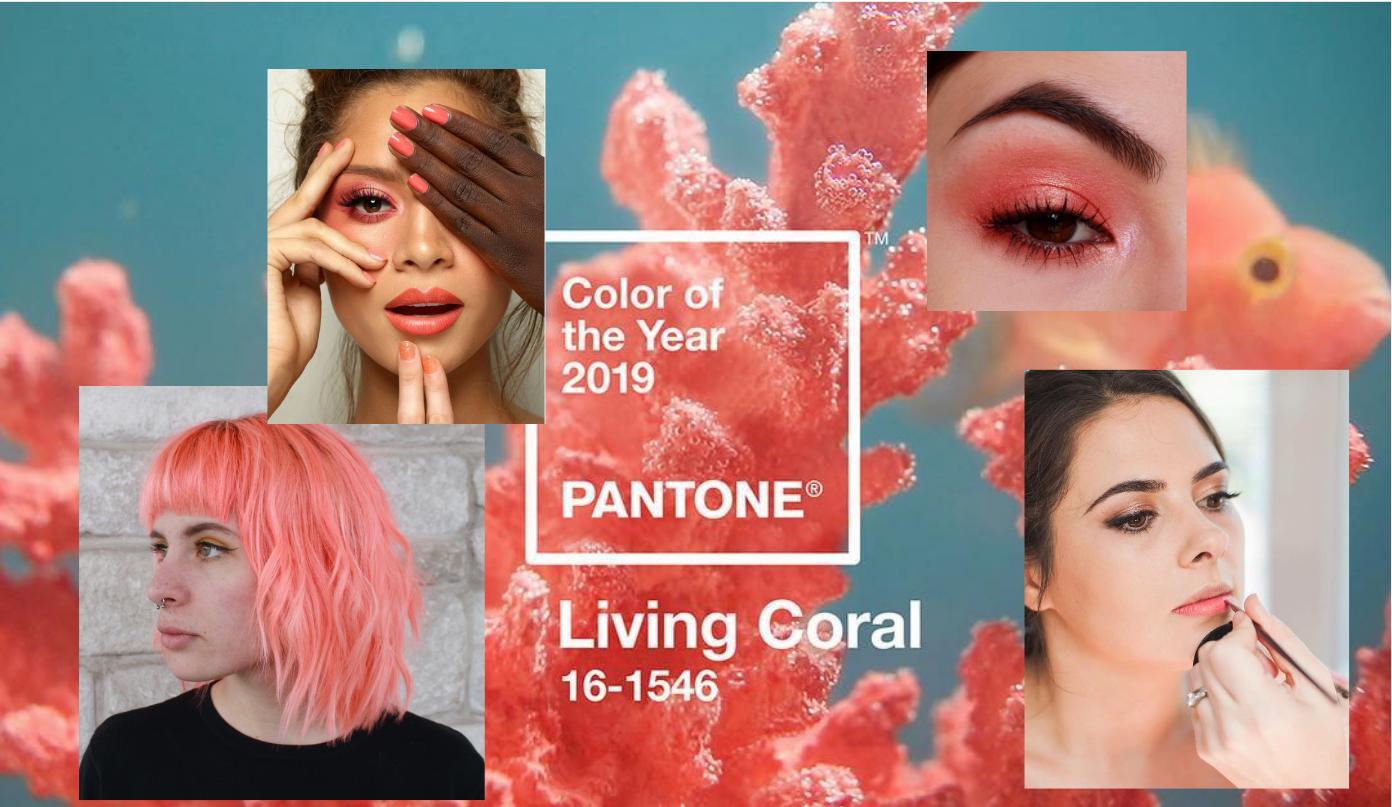 Living coral: как использовать главный цвет 2019 года в макияже, маникюре и прическе