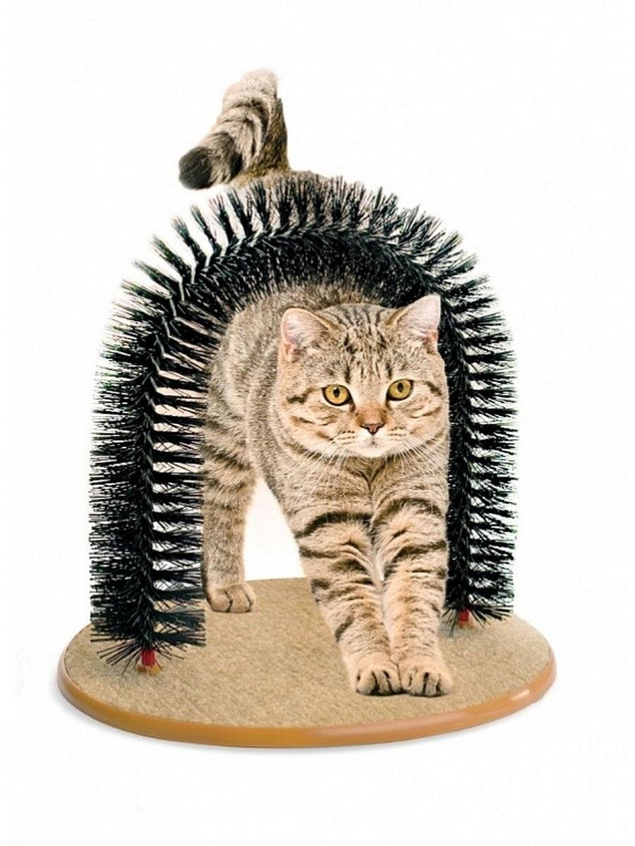 Специально длятех, кого нужно заманивать только ласками. Когтеточка «Кошачье удовольствие» продается вкомплекте спакетиком кошачьей мяты, но можешь попробовать приучить животное ибез...
