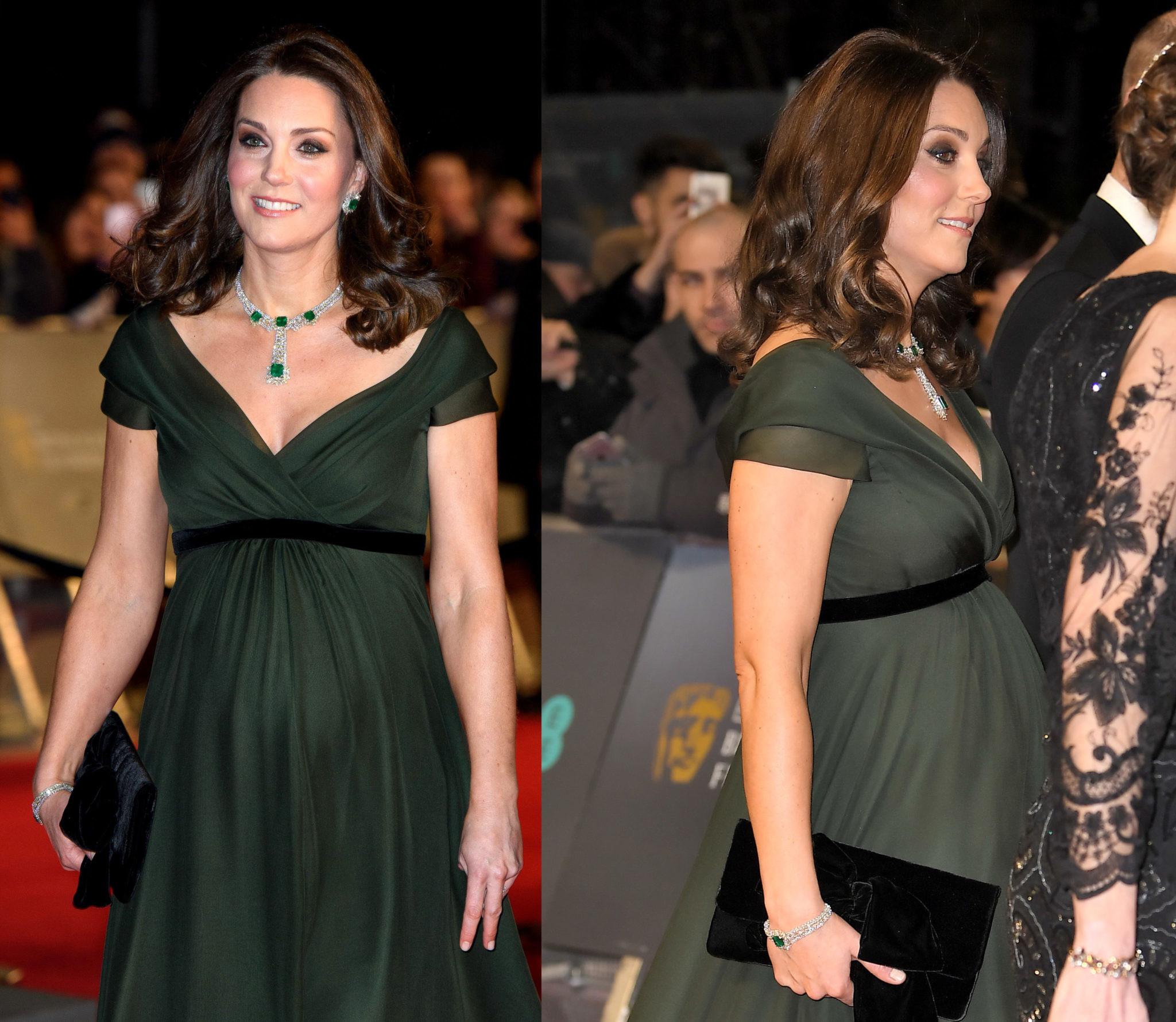 Кейт Миддлтон показала как подобрать идеальное нарядное платье для беременных