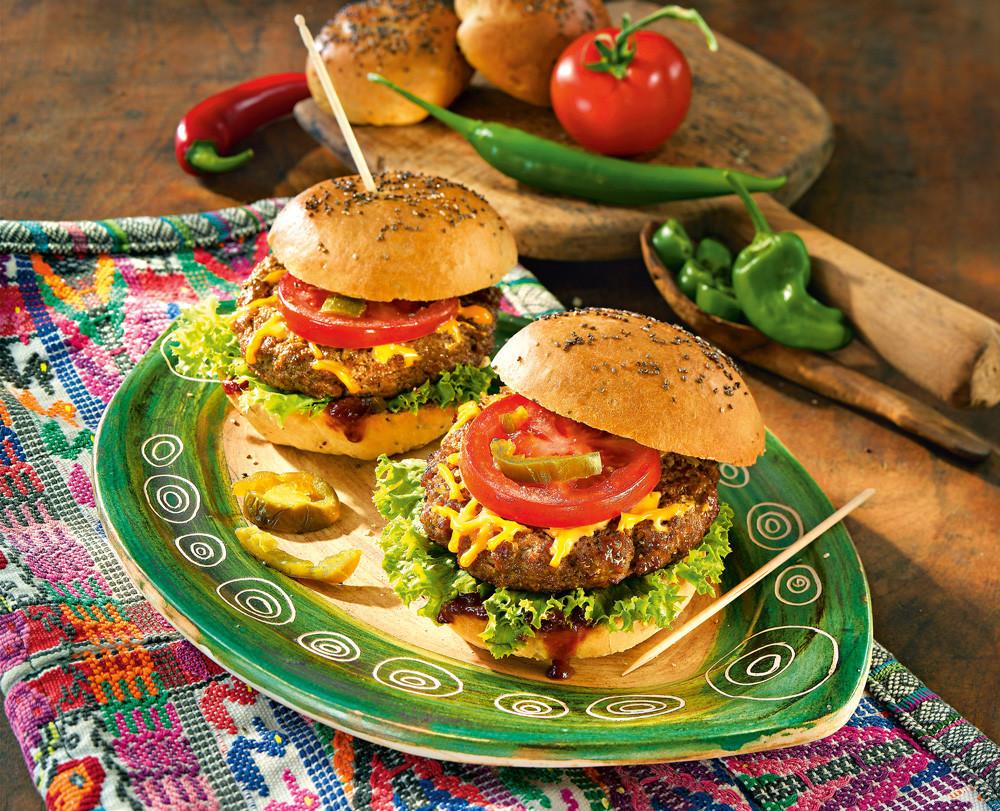 Гамбургер с котлетой-гриль и сыром