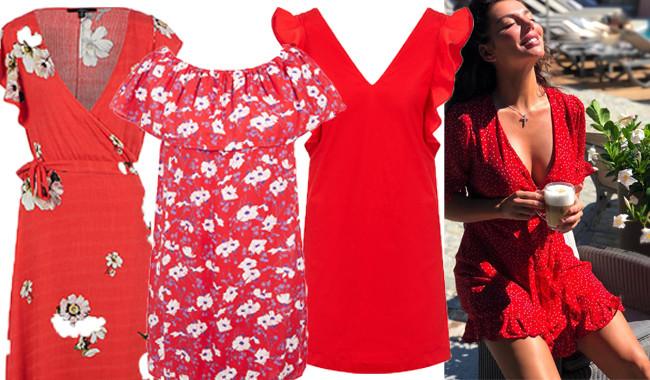 3 красных платья для девушек с большой грудью, как у Анны Седоковой