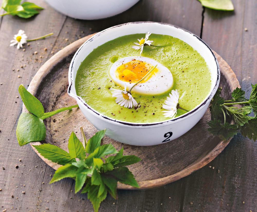 Крем-суп из шпината с петрушкой