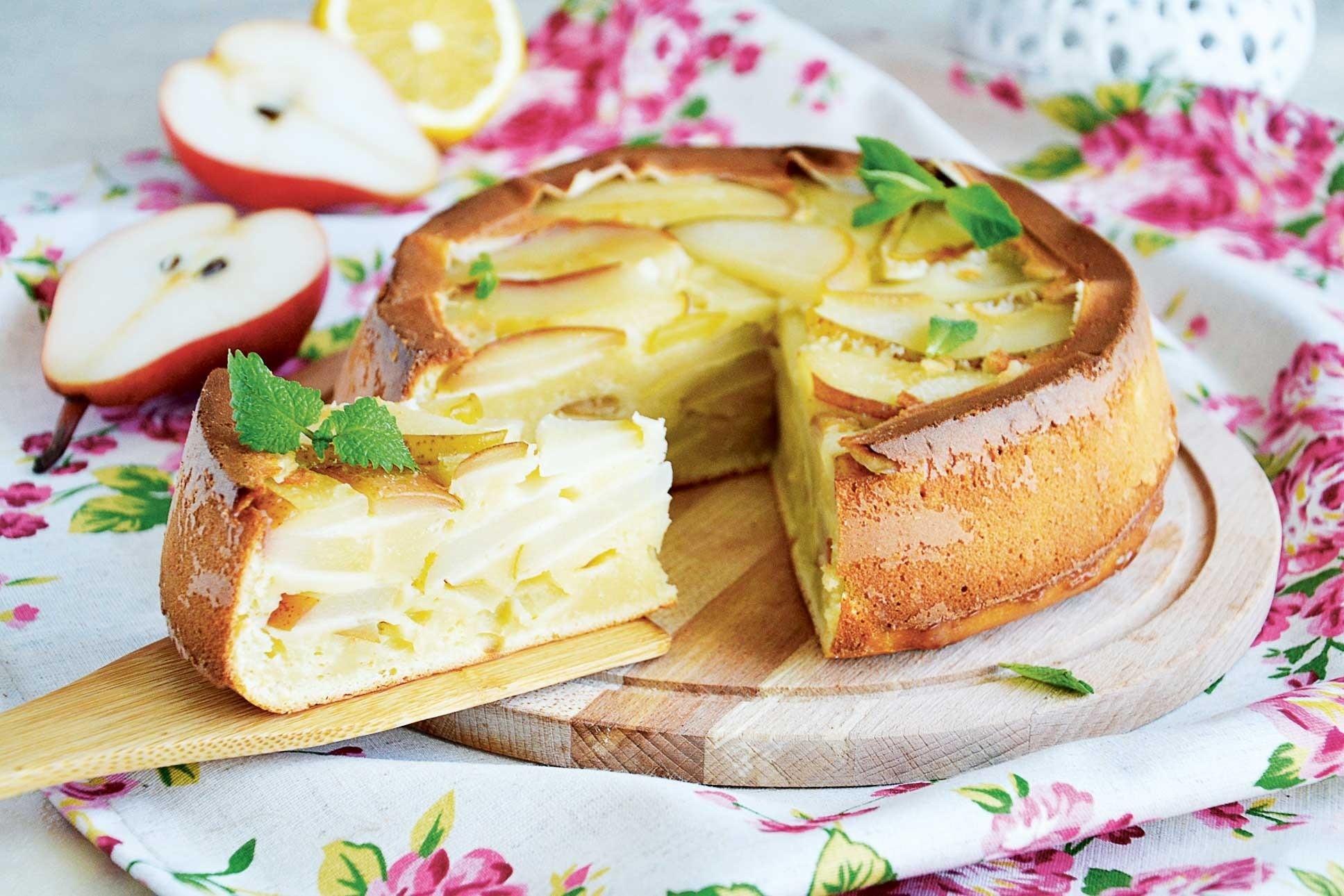Сливочный пирог с грушами