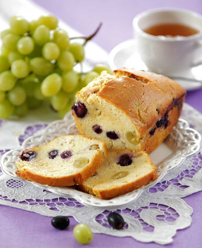 Кекс с виноградом