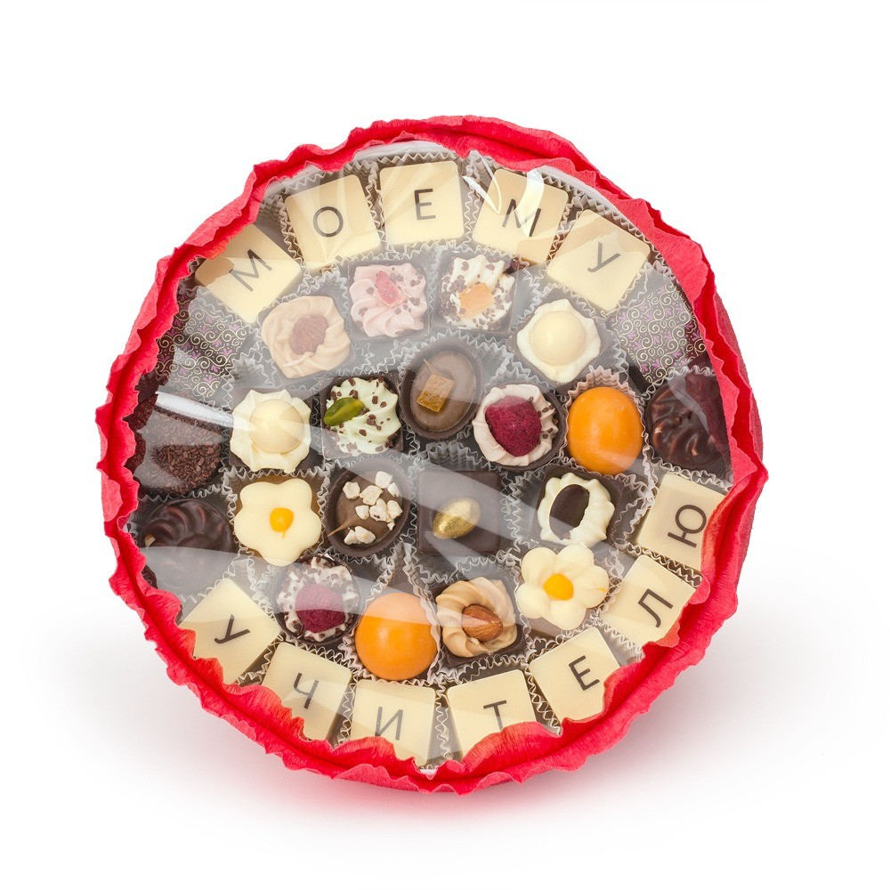Букет изконфет «Моему учителю» Конфаэль, цена  – ок. 2585 руб.   @confael_chocolate