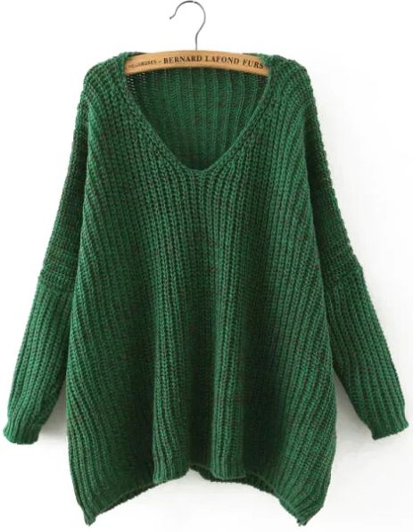 Оверсайз-свитер изумрудного цвета