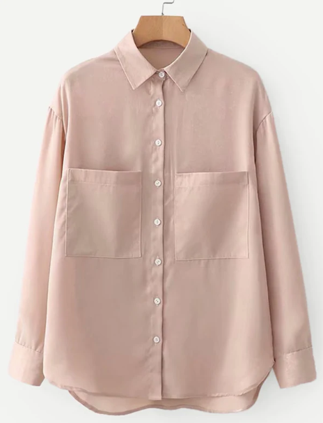 Рубашка из хлопка с карманами
