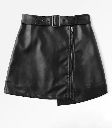 Асимметричная мини-юбка