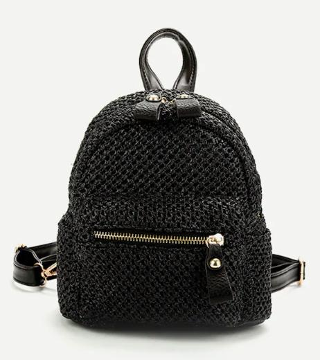 Рюкзак из плетеного полотна