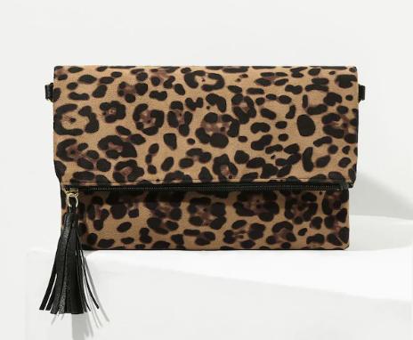Леопардовая сумка черезплечо