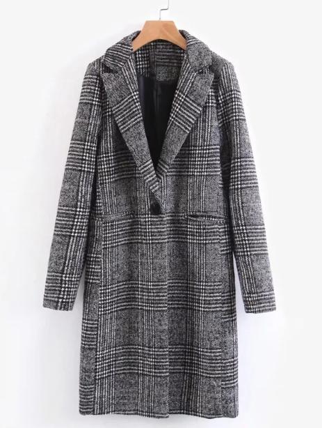 Пальто вмужском стиле