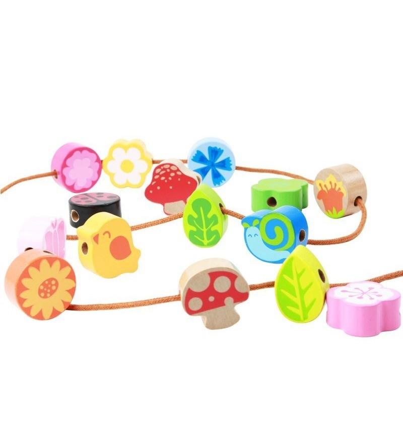 Деревянная игрушка-шнуровка Vulpi