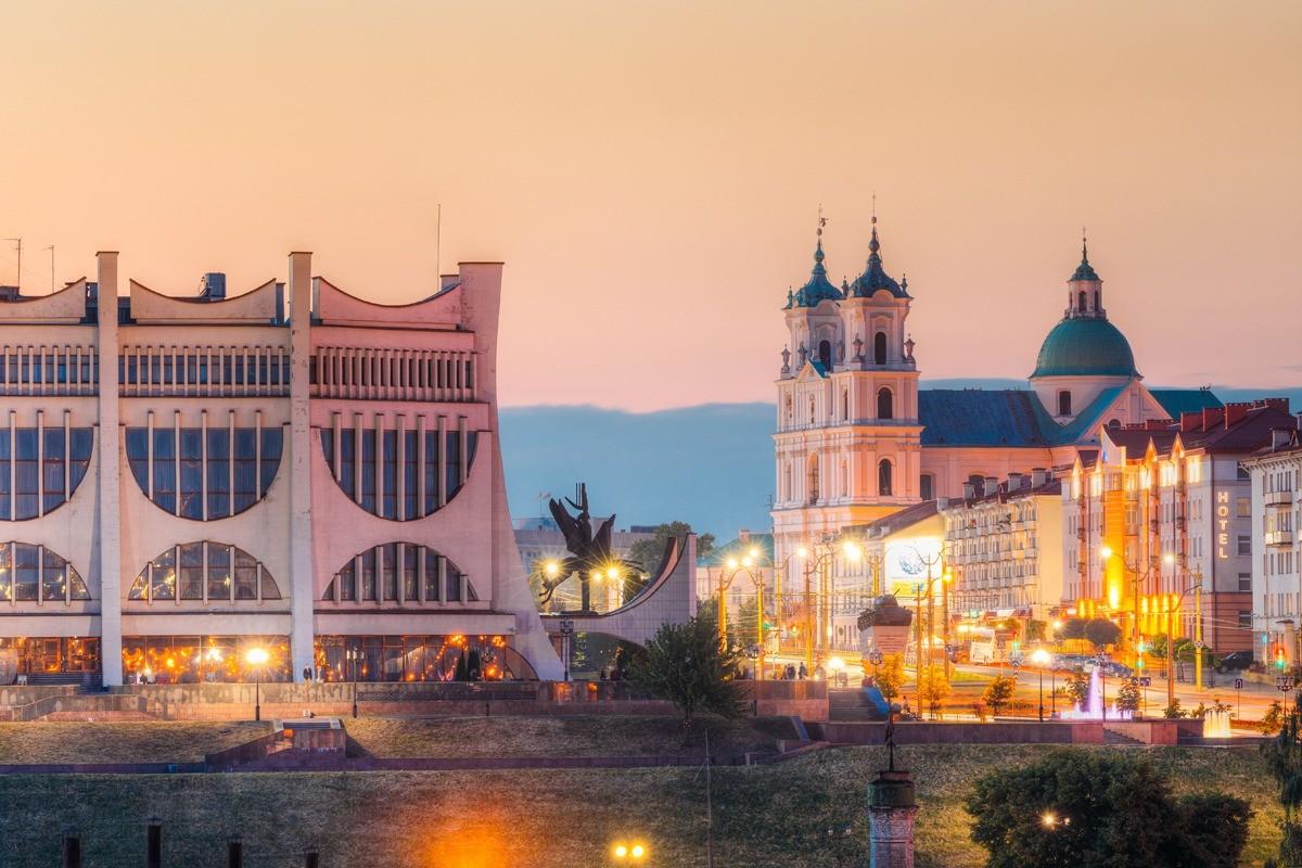 Живописный город Гродно расположен почти у самой границы с Польшей и Литвой
