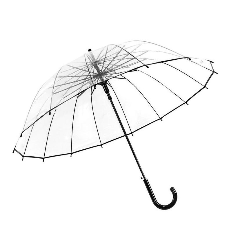 Прозрачный зонт купольной формы