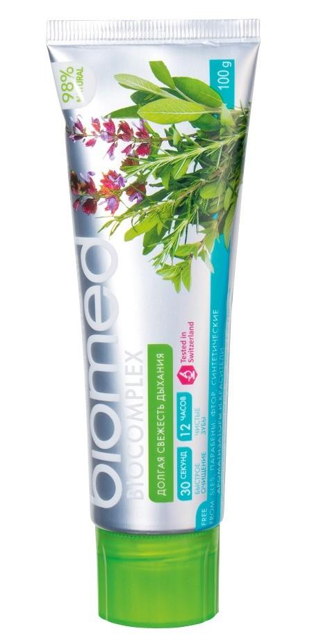 Зубная паста сэфирным маслом шалфея Biocomplex Biomed, 80 руб.