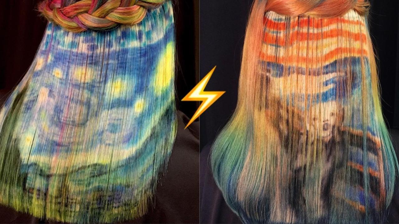 Современное искусство на волосах: новый неожиданный тренд Instagram
