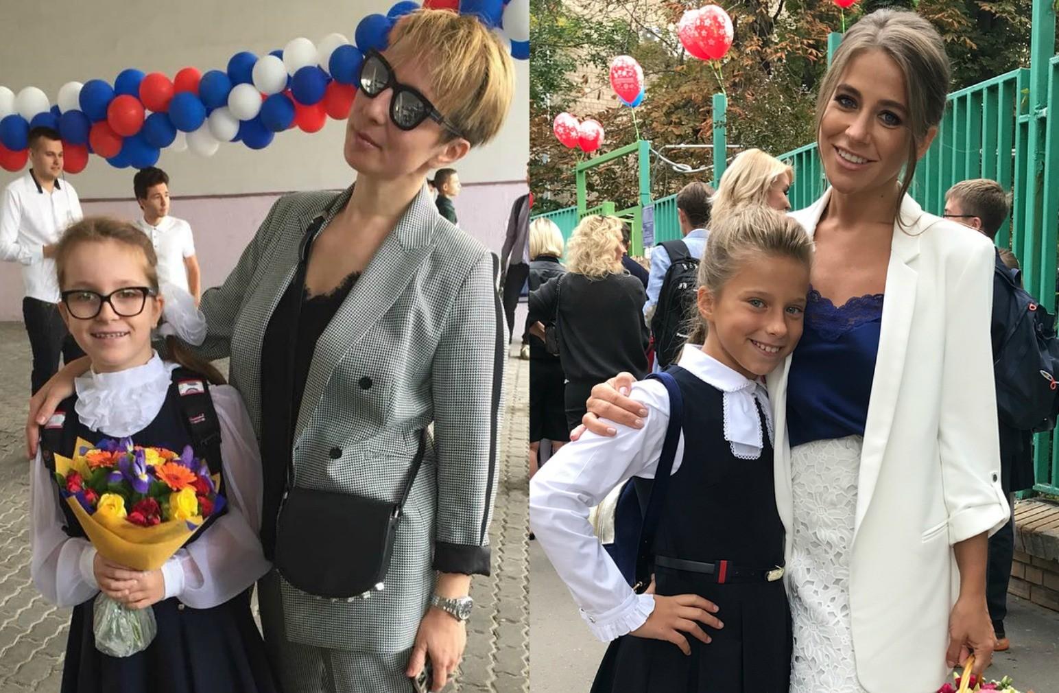 Яна Чурикова, Юлия Барановская и другие звезды отвели детей в школу