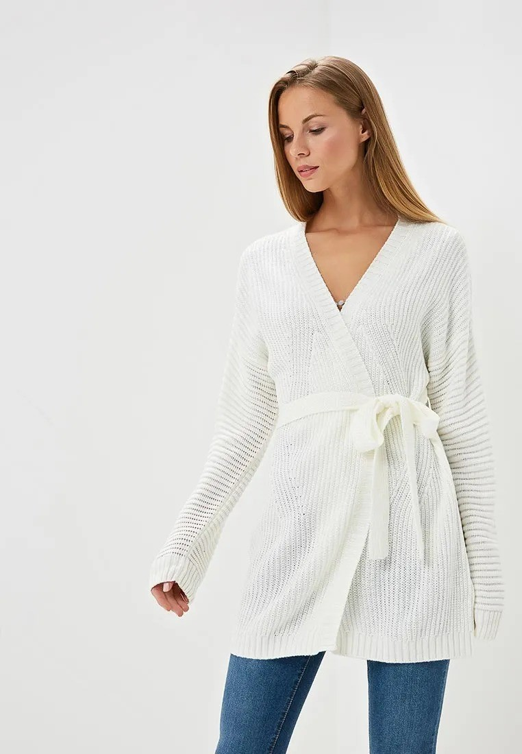 Кардиган RIBBED BELTED CARDIGAN