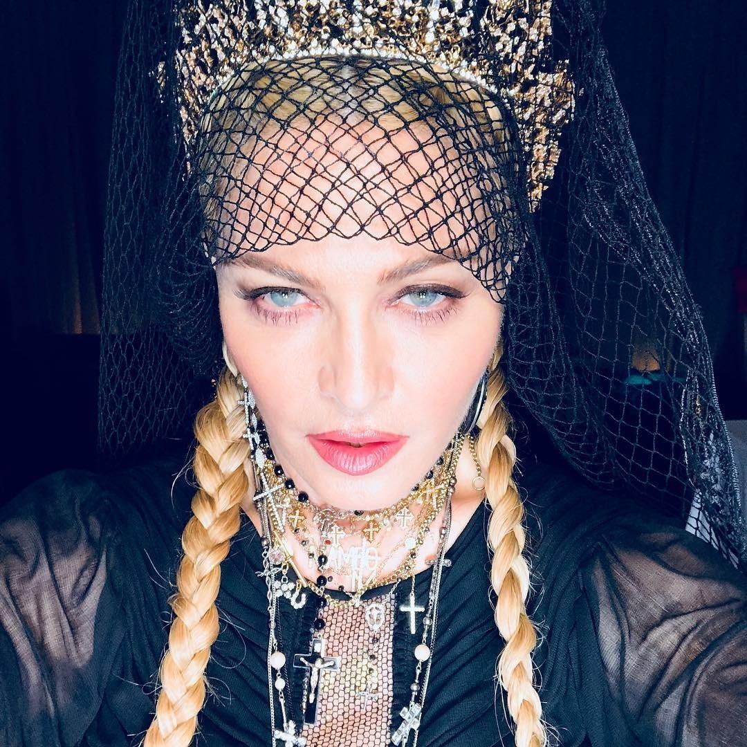В начале своей карьеры Мадонна...