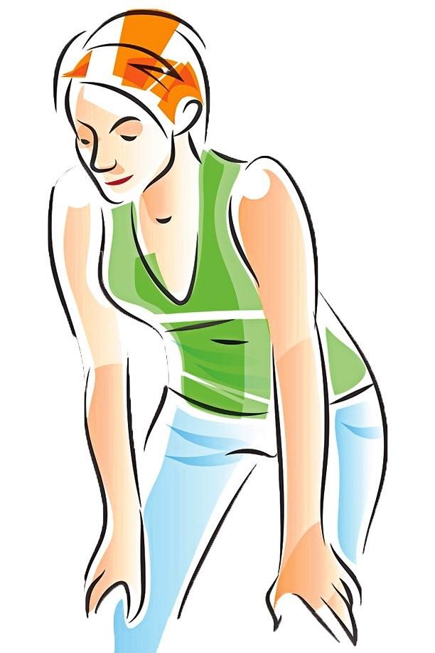 Выполняй упражнение стоя или сидя. Спина прямая, плечи расслаблены, руки опущены или свободно лежат наколенях. Во время выдоха (втягивай живот) медленно опускай туловище вперед кколеням...