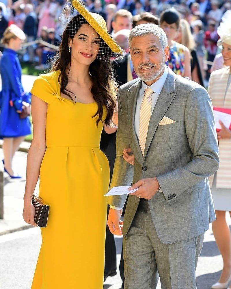 Амалья иДжордж Клуни насвадьбе упринца Гарри иМеган Маркл.