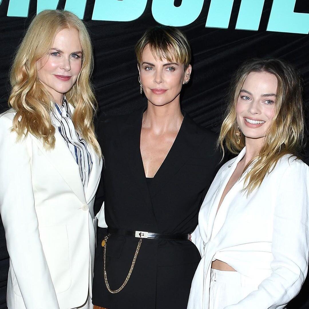 Марго Роби, Николь Кидман иШарлиз Терон представили фильм «Скандал» вЛос-Анджелесе (видео)