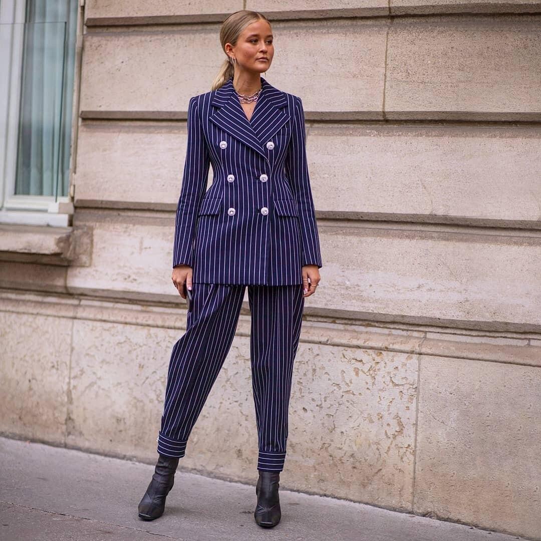С чем носить полосатые брюки: 25 ультрамодных и комфортных образов
