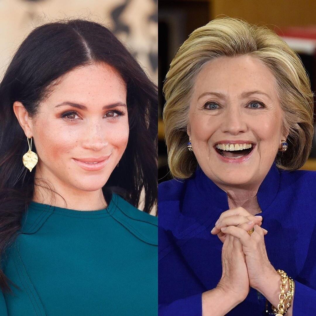 Меган Маркл тайно встретилась с Хиллари Клинтон