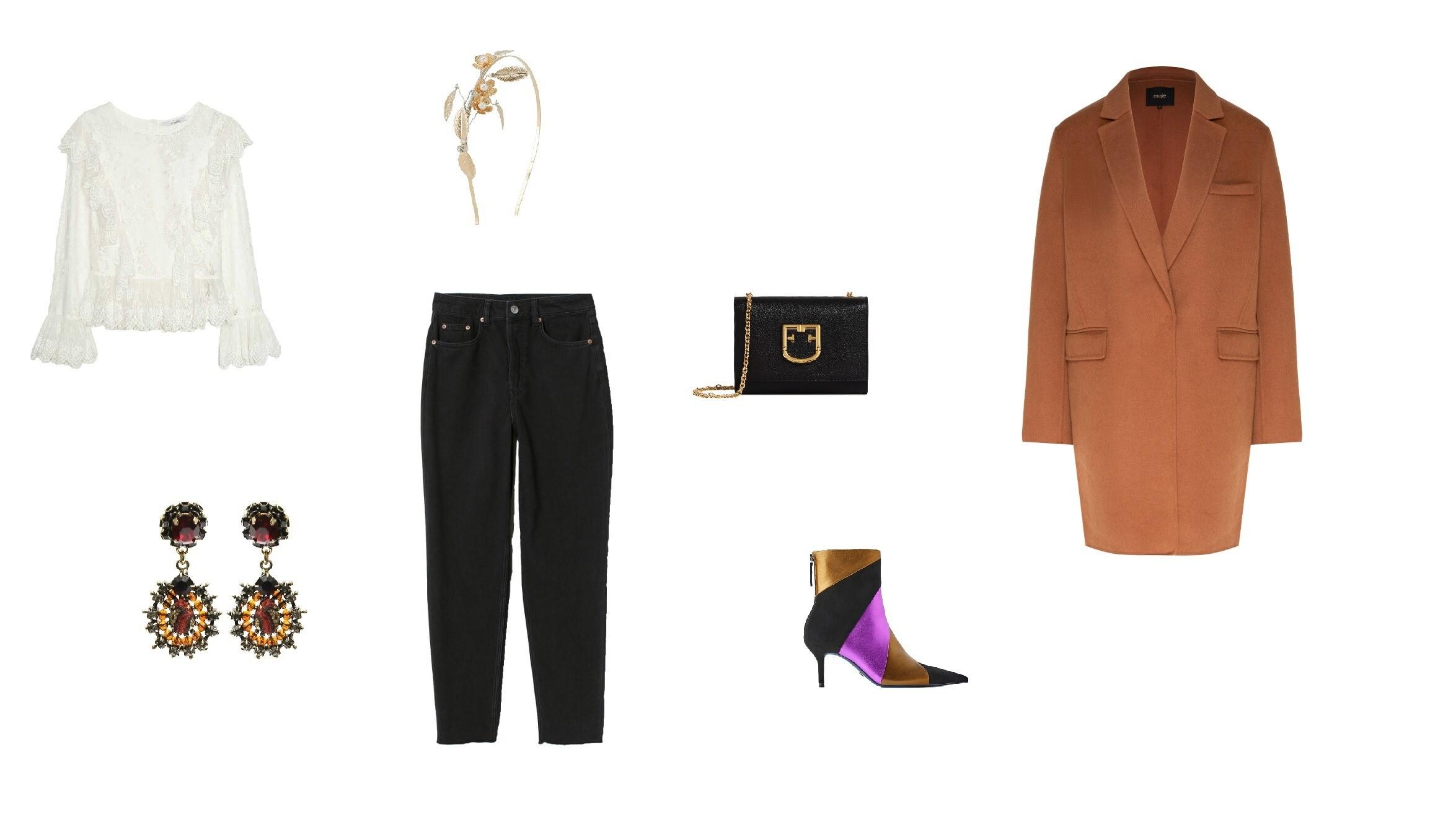 Джинсы H&M, 1 899 руб., блуза Uterque, 10 290 руб., серьk...