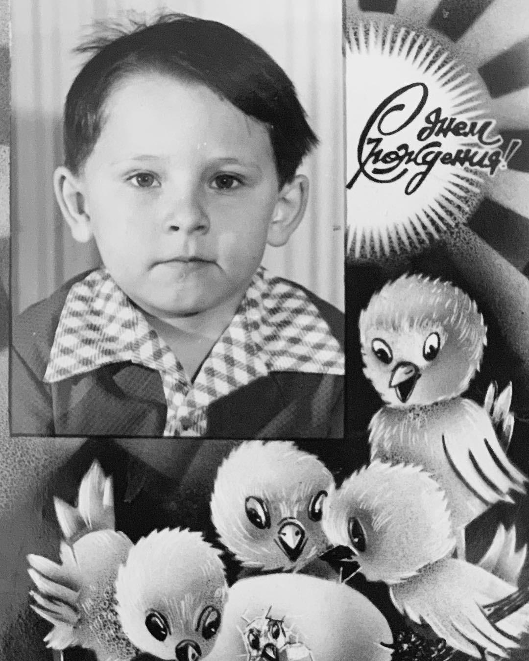 Тимур Батрудинов в детстве.
