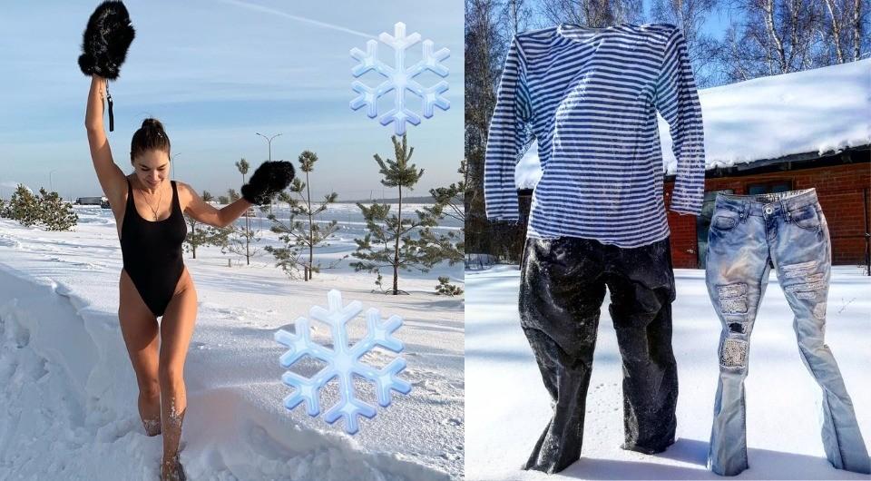 Босиком по снегу и замерзшие штаны: топ-4 зимних челленджа россиян