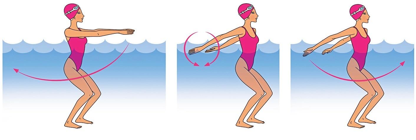 Как быстро сжечь калории: 5 упражнений в воде