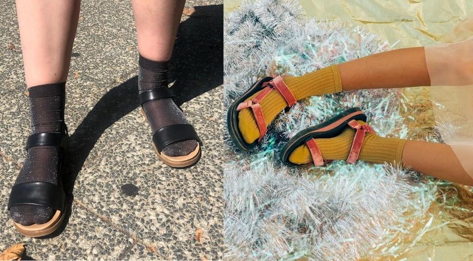 В моду вошли сандалии с носками: как следовать этому тренду