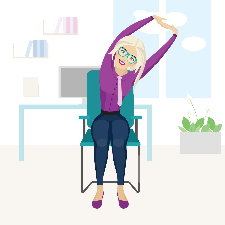 Разминка в офисе: 5 упражнений для тех, кто много сидит за компьютером
