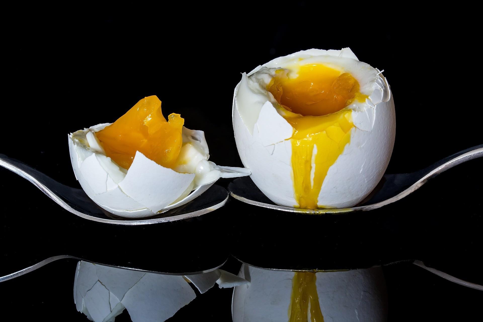 1 яйцо всмятку.